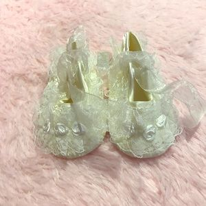 Other - Infant Communion Baptism Lace Dress Crib Shoes
